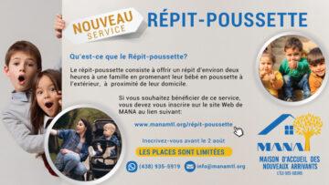 répit-poussette MANA MONTREAL