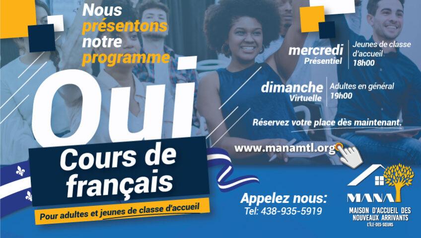 Cours de Français MANA Montreal