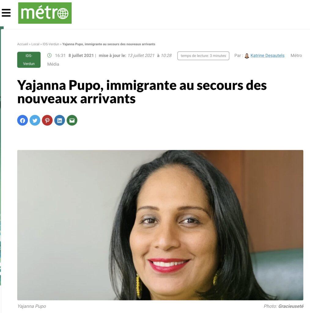 Yajanna Pupo - Verdun MANA Metrto